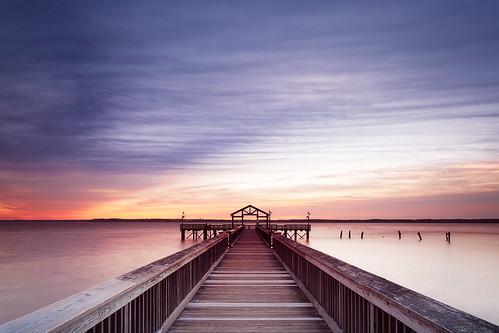 wood sunrise pier dawn overcast morning colorful fishing virginia boardwalk longexposure colors landscape river nature statepark potomac woodbridge maryland unitedstatesofamerica us