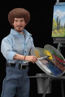 """真的很簡單的~ 充滿回憶的《歡樂畫室》再開! NECA 8"""" Clothed Action Figure 系列【鮑伯·魯斯】Bob Ross 8 吋人偶作品"""