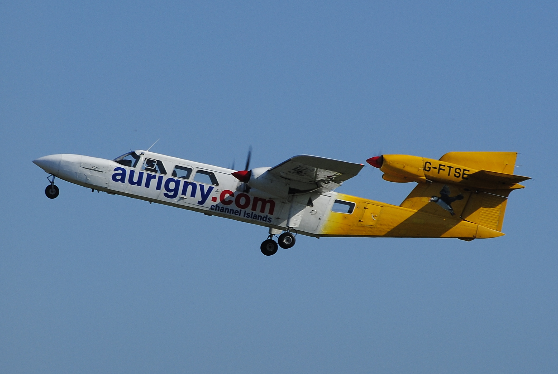 G-FTSE Trislander of Aurigny Air Services. Photo taken on March 21, 2012. Used under the Creative Commons Attribution-Share Alike 2.0 Generic license.
