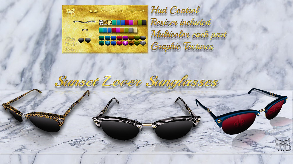 NEW RELEASE PROMO99 L$   ^TD^ Sunset lover Sunglasses