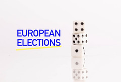 DIces with European elections text