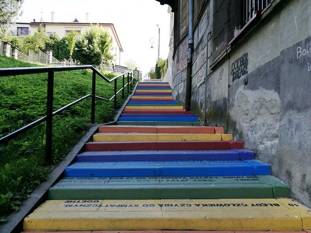 Odnowione schody na Tatrzańskiej