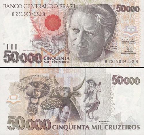 50 000 cruzeiros Brazília 1991, P234a