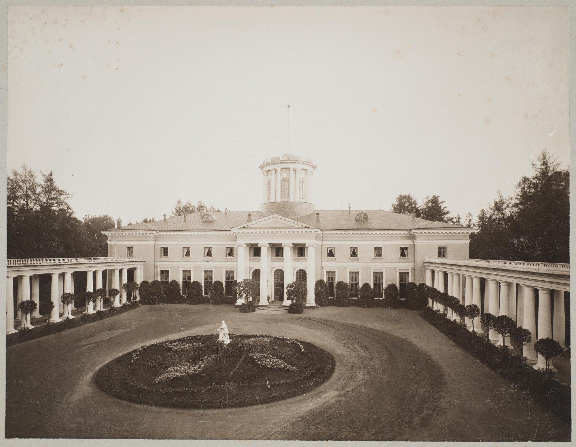 1904. Архангельское. Вид дворца и парадного двора