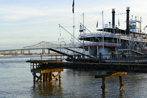 usa louisiana neworleans mississippi fluss river schiff raddampfer paddlesteamer landschaft landscape natur nature ivlys