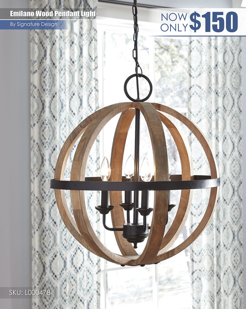 Emilano Wood Pendant Light_L000478