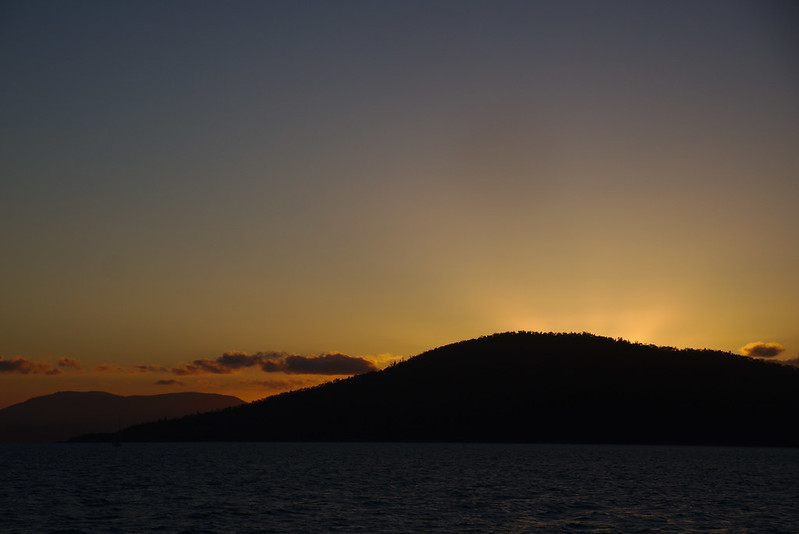 Sunset over Cid Island