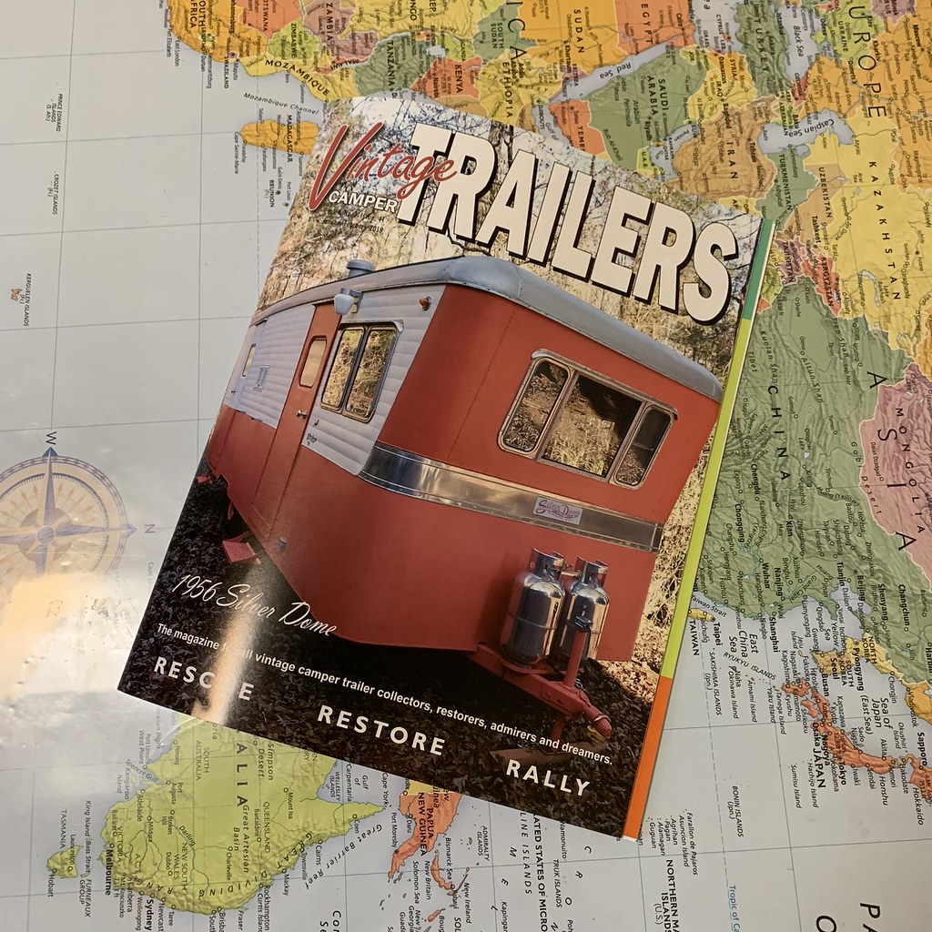 Retro Roadmap in Vintage Camper Trailers Magazine January 2019!