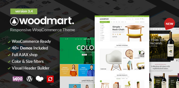WoodMart v3.4.0 - Responsive WooCommerce WordPress Theme