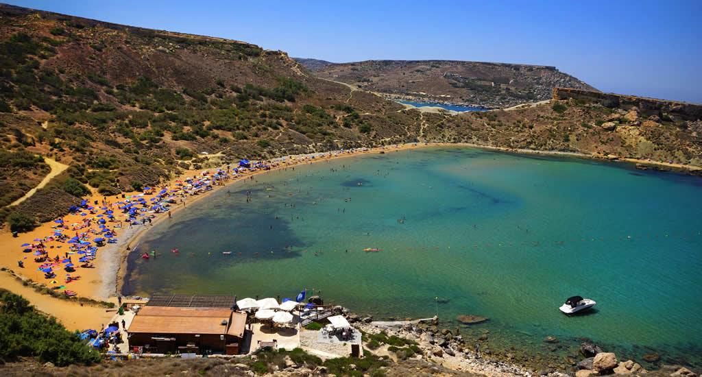 Stranden van Malta: Ghajn Tuffieha | Malta & Gozo