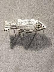 First century bronze fish, found at Jublains temple/