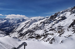 Above the avalanche cannon