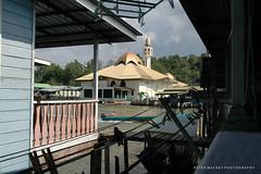 Kampong Ayer village and mosque Brunei