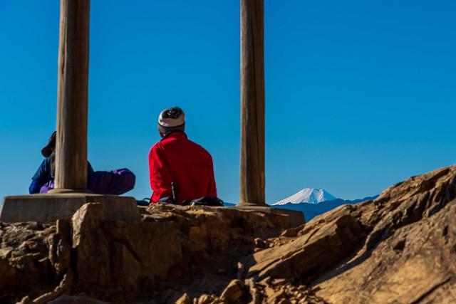 富士山が見えます@金比羅神社