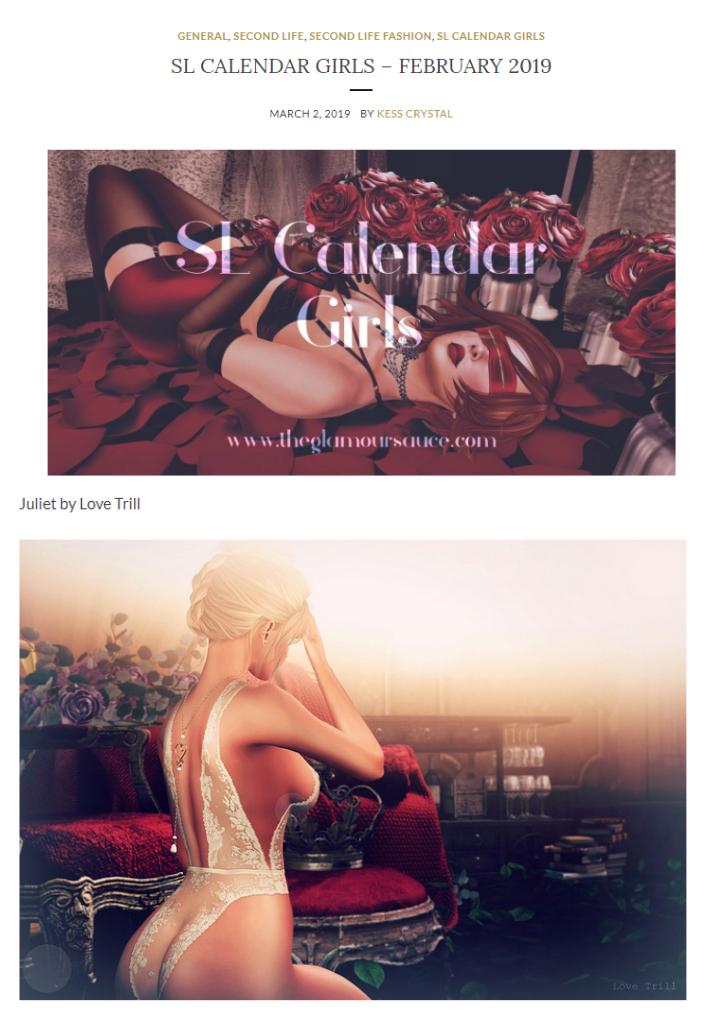 February 2019 - Calendar Girl!