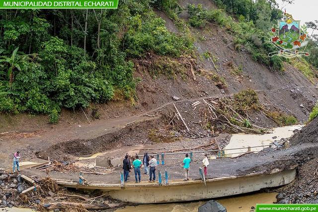 Alcalde de Echarati dispuso la construcción de nuevo puente en Palmeiras Kepashiato