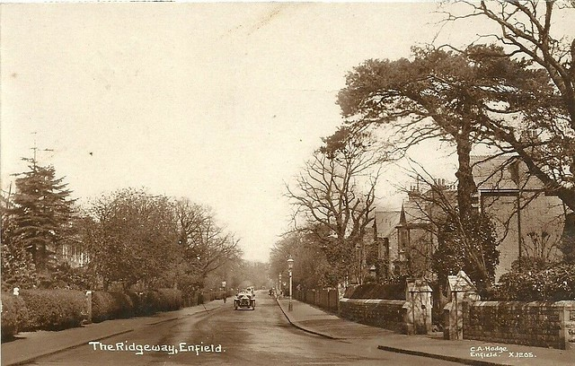 ENFIELD MIDDLESEX THE RIDGEWAY 1918