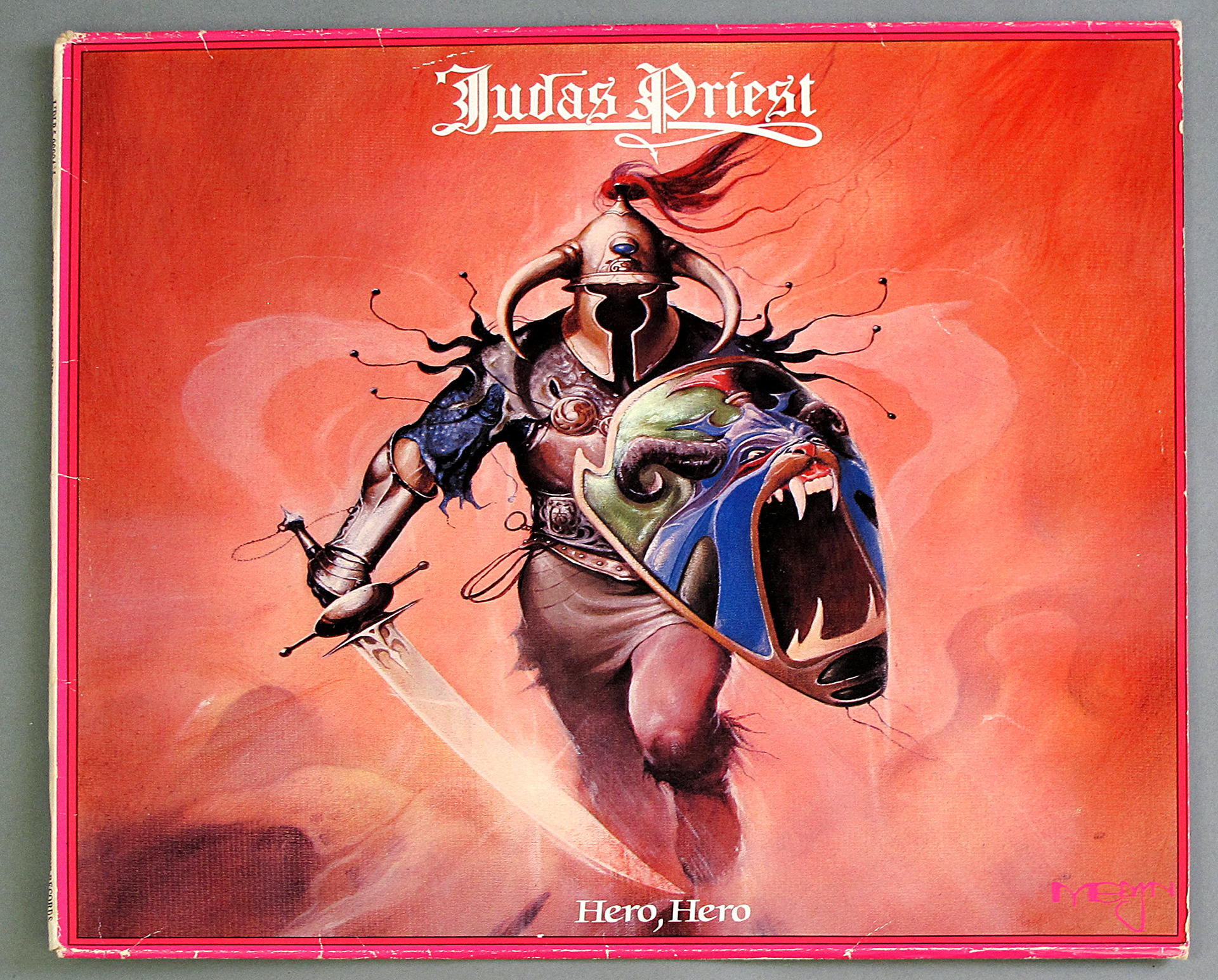 "JUDAS PRIEST HERO, HERO WHITE VINYL 2LP 12"" DOUBLE LP VINYL"