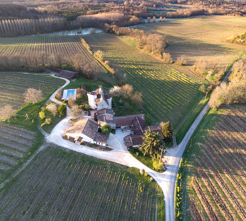 Winery, Dordogne France, Aerial