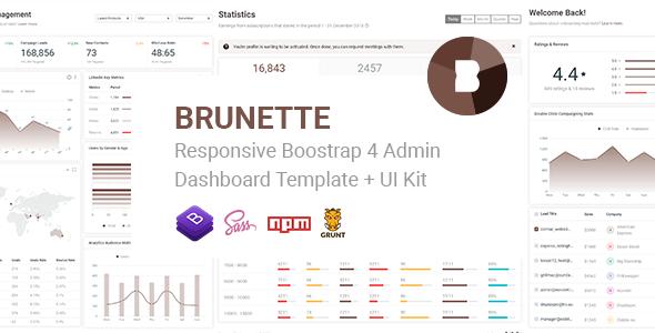 Brunette v1.0 - Responsive Bootstrap 4 Admin & Powerful UI Kit