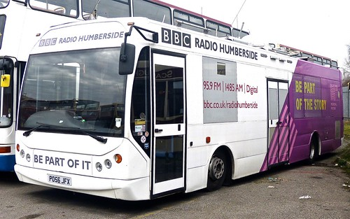 PO56 JFX 'BBC Radio Humberside'. MAN 14.220 / East Lancs on Dennis Basford's railsroadsrunways.blogspot.co.uk'