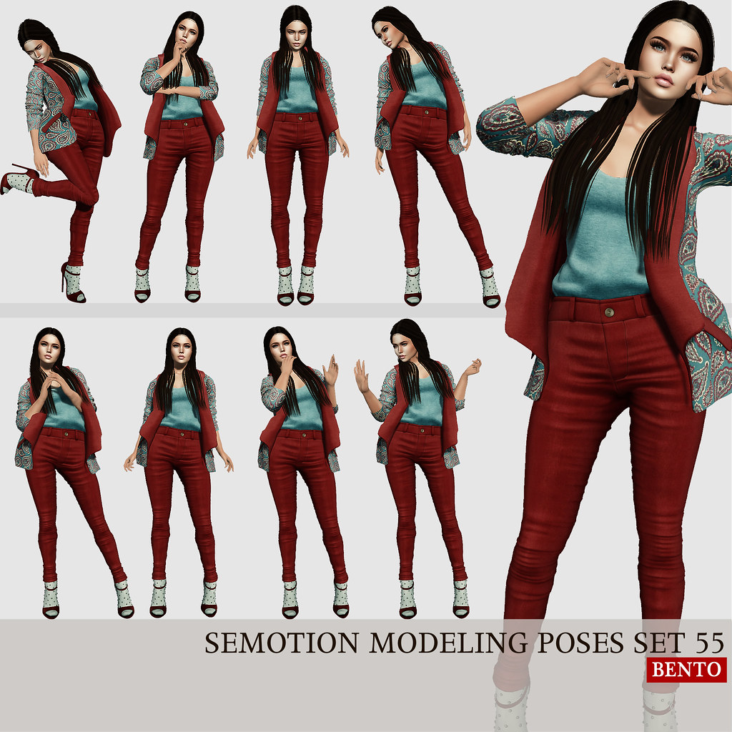 SEmotion Female Bento Modeling poses set 55