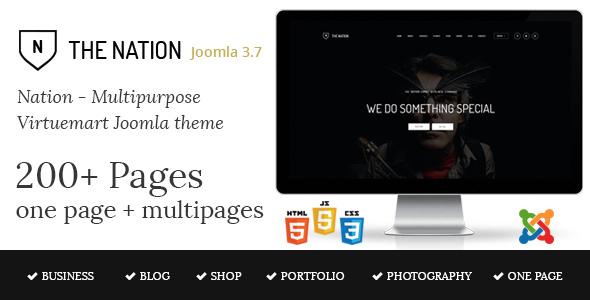 Nation v1.3 - Multipurpose Virtuemart Joomla Template