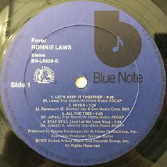 RONNIE LAWS:FEVER(LABEL SIDE-A)