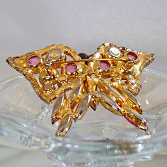 Butterfly Brooch. Vintage Brooch. Pink Rhinestone Brooch. Juliana Brooch. D&E Butterfly Pin. Brooches for Women. Jewelry for Women. waalaa