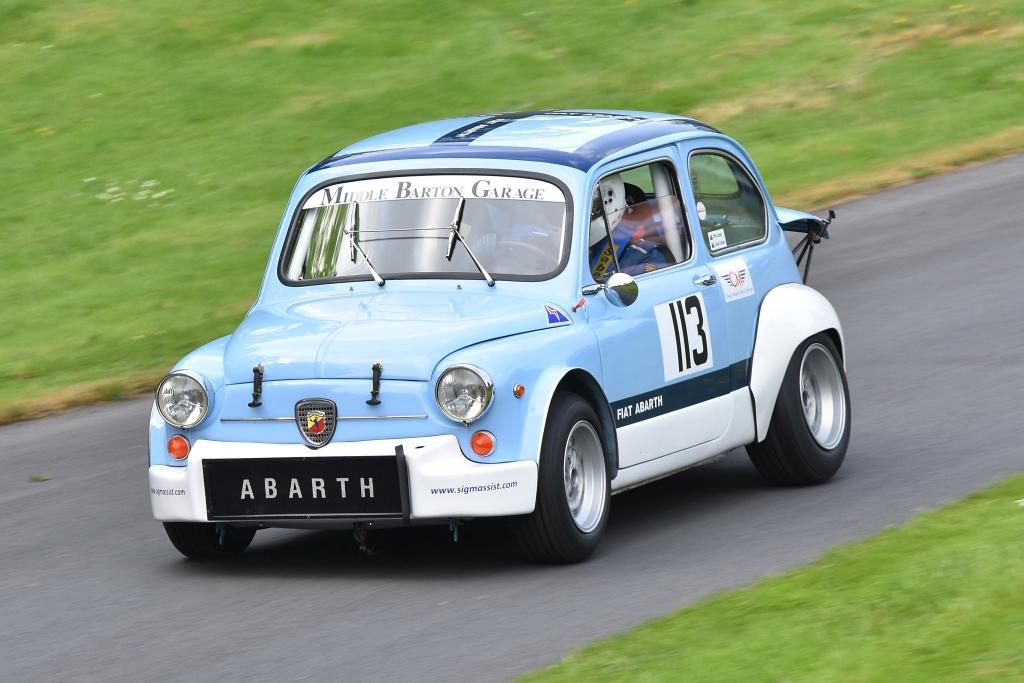 Phil Jones' Fiat Abarth 1000TC at Prescott (D Garnett)