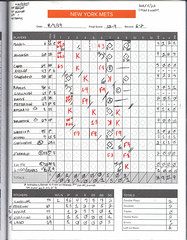 My Completed Scorecard for the New York Metropolitans in Their Game Against the Washington Nationals at Not Shea Stadium -- Queens, NY, April 7, 2019