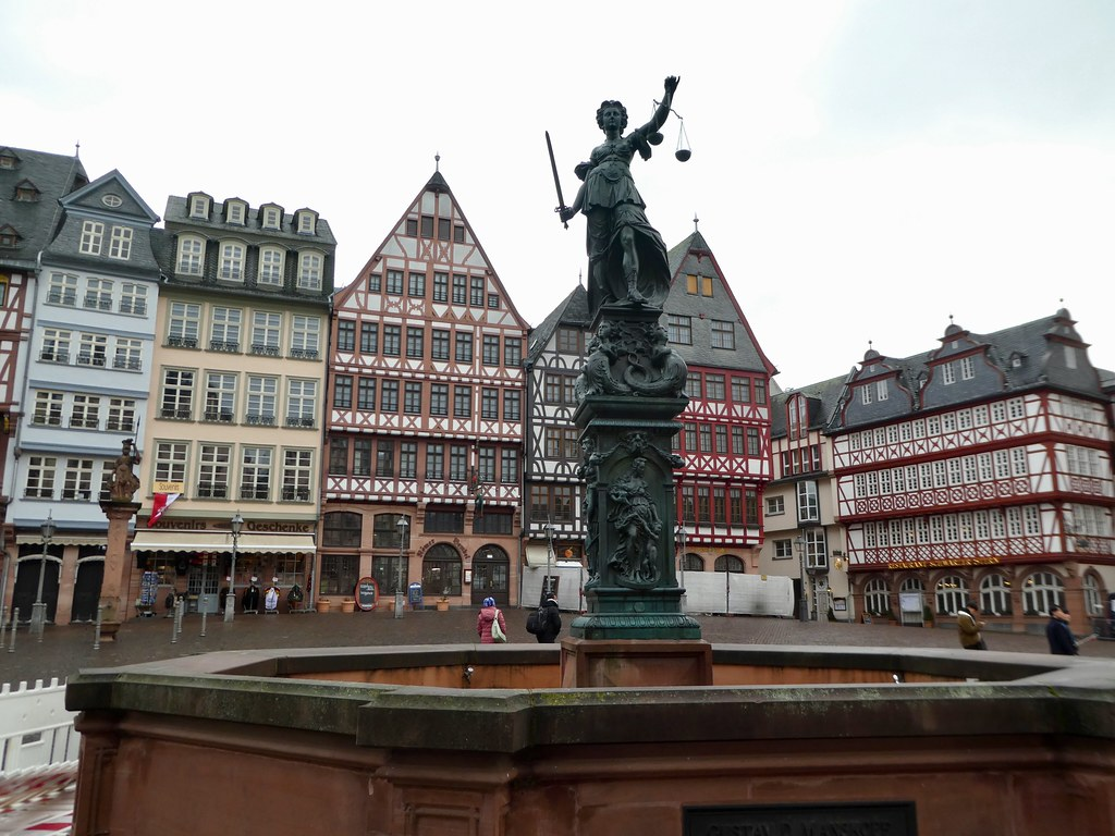 The Fountain of Justice, Romerberg Square, Frankfurt