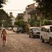 A Man Walks on Lazaro Cardenas por David J. Greer