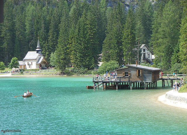 Lago di Braies, view