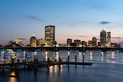 Boston Skyline - Cambridge - Blue Hour