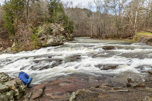 White water makes the turn at Turkey Creek Nature Preserve