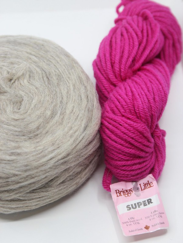 Briggs & Little Super Magenta Country Roving Light Gray