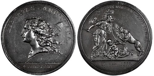 Libertas Americana medal electrotype