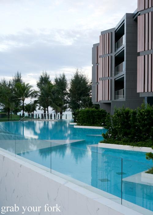 Infinity pool at La Vela Hotel Resort in Khao Lak, Thailand
