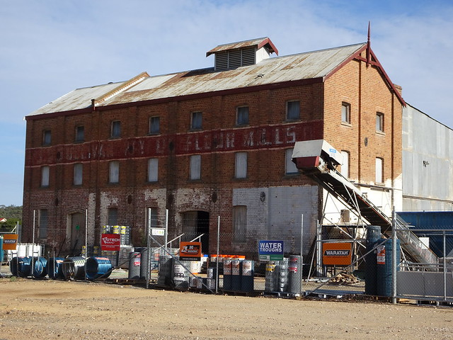 Photo:Grenfell. The old flourmill. Built in 1901 after the railway from Cowra reached the town.  Named the Challenge mill but  later changed. Closed probably in the 1960s like most flourmills. By denisbin