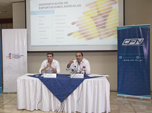 """Presentación del """"Financiamiento para la Diversificación de Exportaciones Agrícolas"""""""