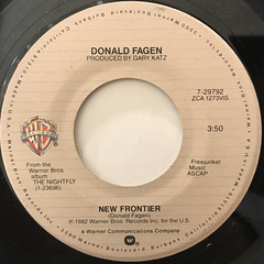 DONALD FAGEN:NEW FRONTIER(LABEL SIDE-A)
