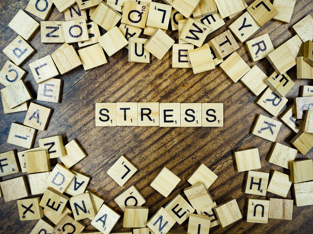Stress Spelled Out In Scrabble Tiles