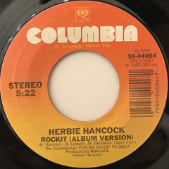 HERBIE HANCOCK:ROCKIT(LABEL SIDE-B)