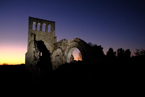 2019:080/365. Church ruin at sunset, France