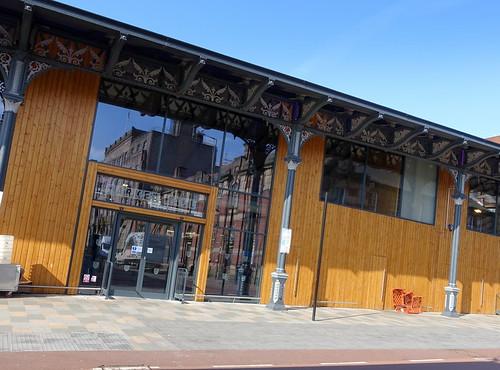 New Preston Market under the old canopy
