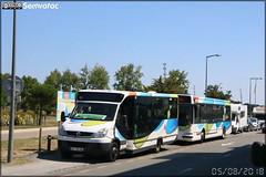Vehixel Aptineo – Transports T / STRAN (Société des Transports en commun de l'Agglomération Nazairienne) n°874 & Irisbus Agora S – STRAN (Société des Transports en commun de l'Agglomération Nazairienne) n°411