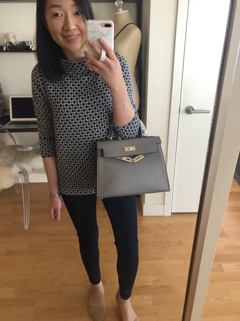 Ainifeel Women's Padlock Shoulder Bag in grey (size 28cm)