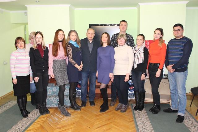 24 lutego 2019 członkowie TKP w Sumach w bibliotece miejskiej podczas obchodów 100 rocznicy od urodzin pisarza Gustawa Herlinga Grudzińskiego