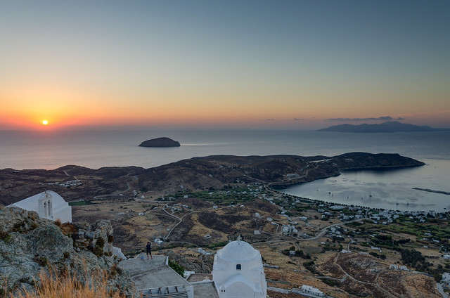 sunrise from Chora, Serifos, Greece